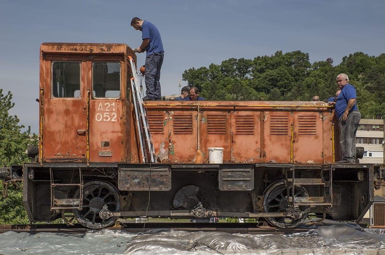 szabdtéri kiállítóhely mazsola mozdony salgótarján