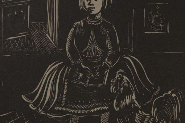 Alkotás: Vadász Endre: Kislány kakassal, 1930 k. Fotó: Shah Timor